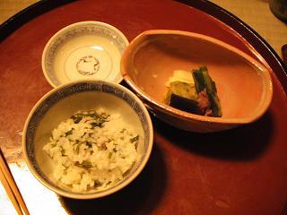 美山荘 ご飯&香の物.JPG