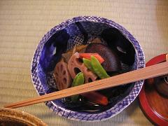 美山荘 朝食筑前煮.JPG
